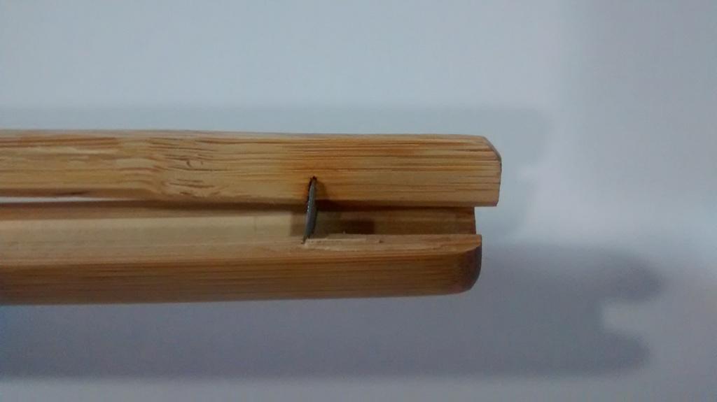 La hoja de bambú nueva no encaja correctamente en el chigiri.
