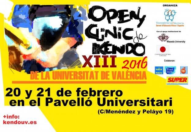 Cartel del XIII Open de Kendo
