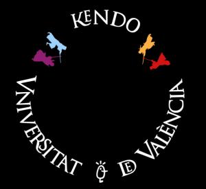 Tsuba con el logotivo de la Escuela Deportiva de Kendo UV