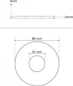 Medidas de una Tsuba, tamaño grande