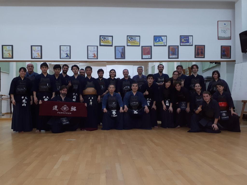 Foto de grupo después del entrenamiento del Jueves 15 de febrero.